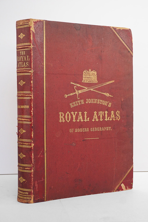 Monumental British Royal Atlas of Modern Geography from 1869