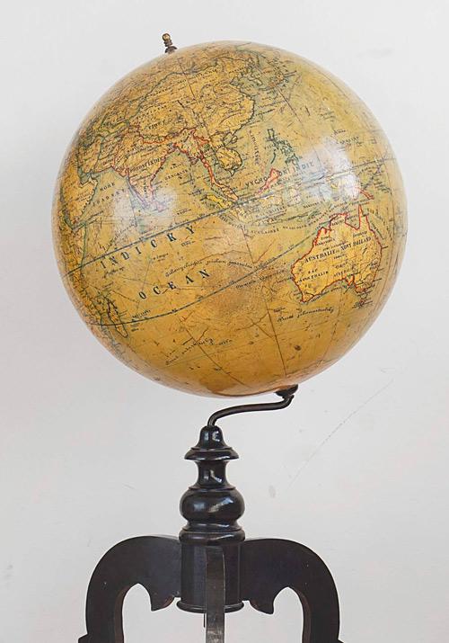 Large Antique Czech Globe by Felkl & Son