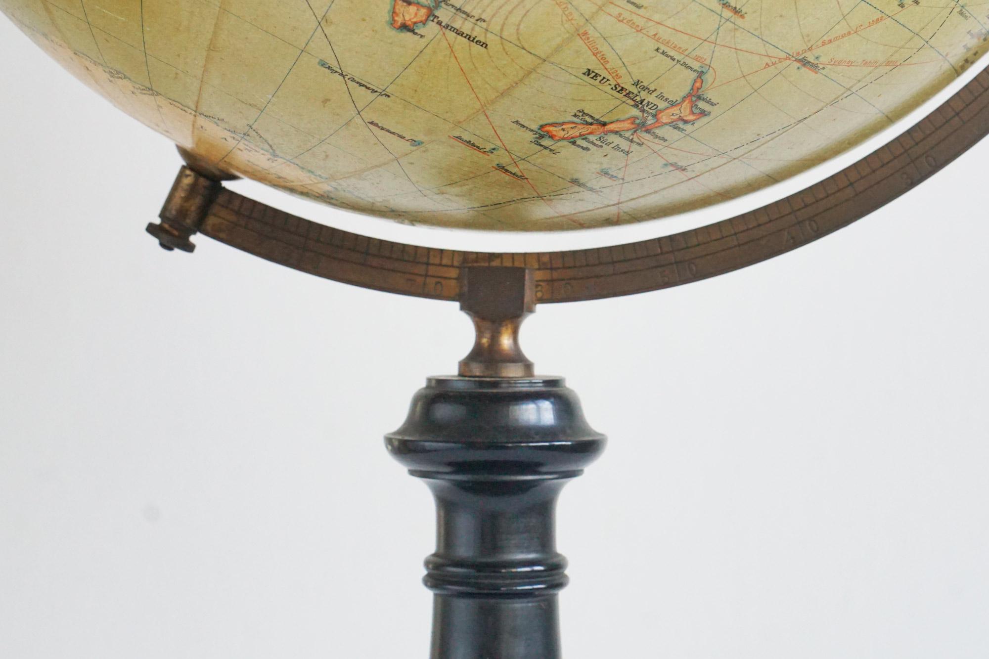 Pre-WW1 Antique Globe by Globushaus G.M.B.H. Berlin