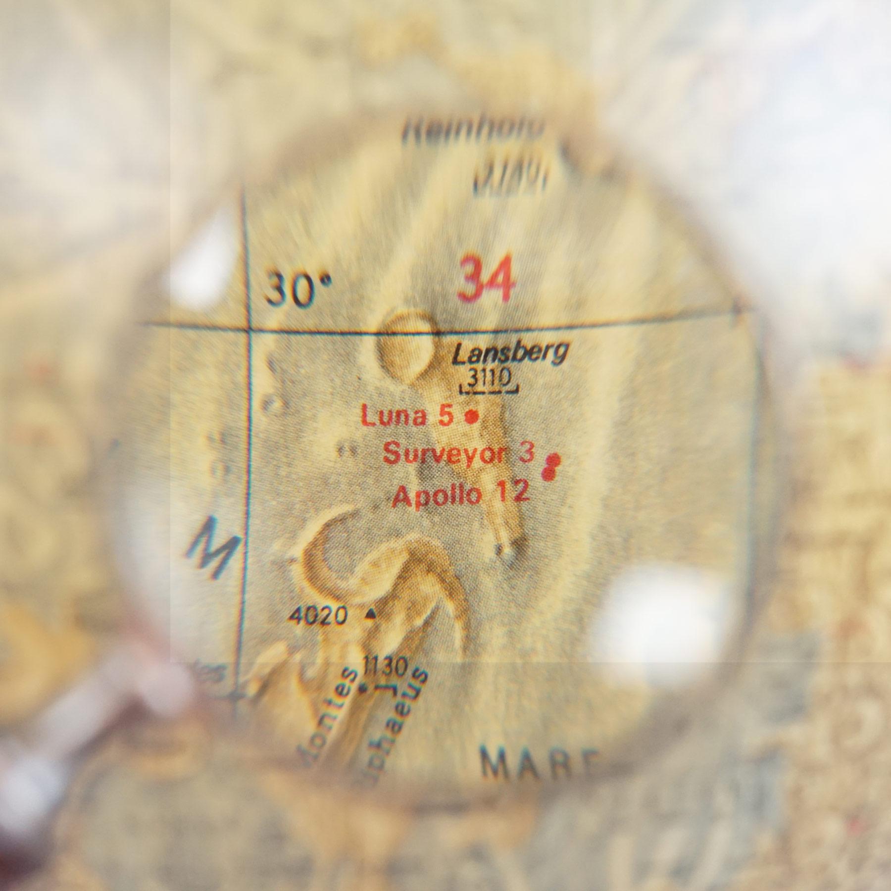 Exceptional Lunar Globe Räths Erdmondglobus