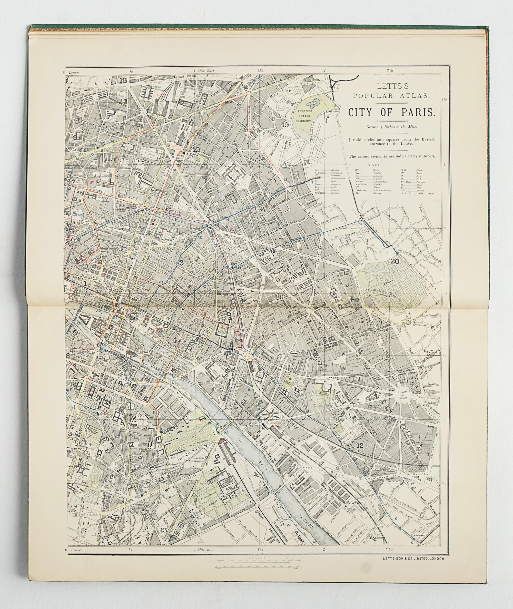 Letts's Popular Atlas - Europe