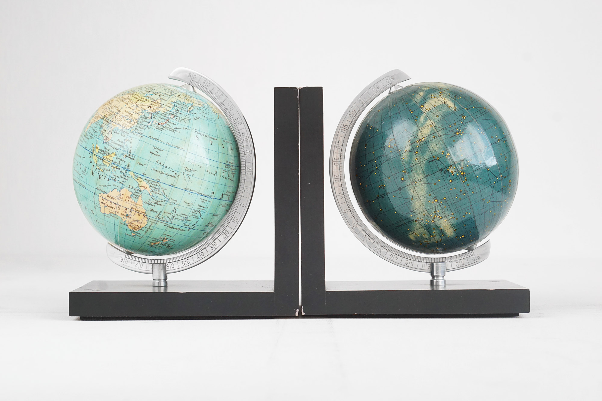 Vintage Pair of Globe Bookends by Columbus