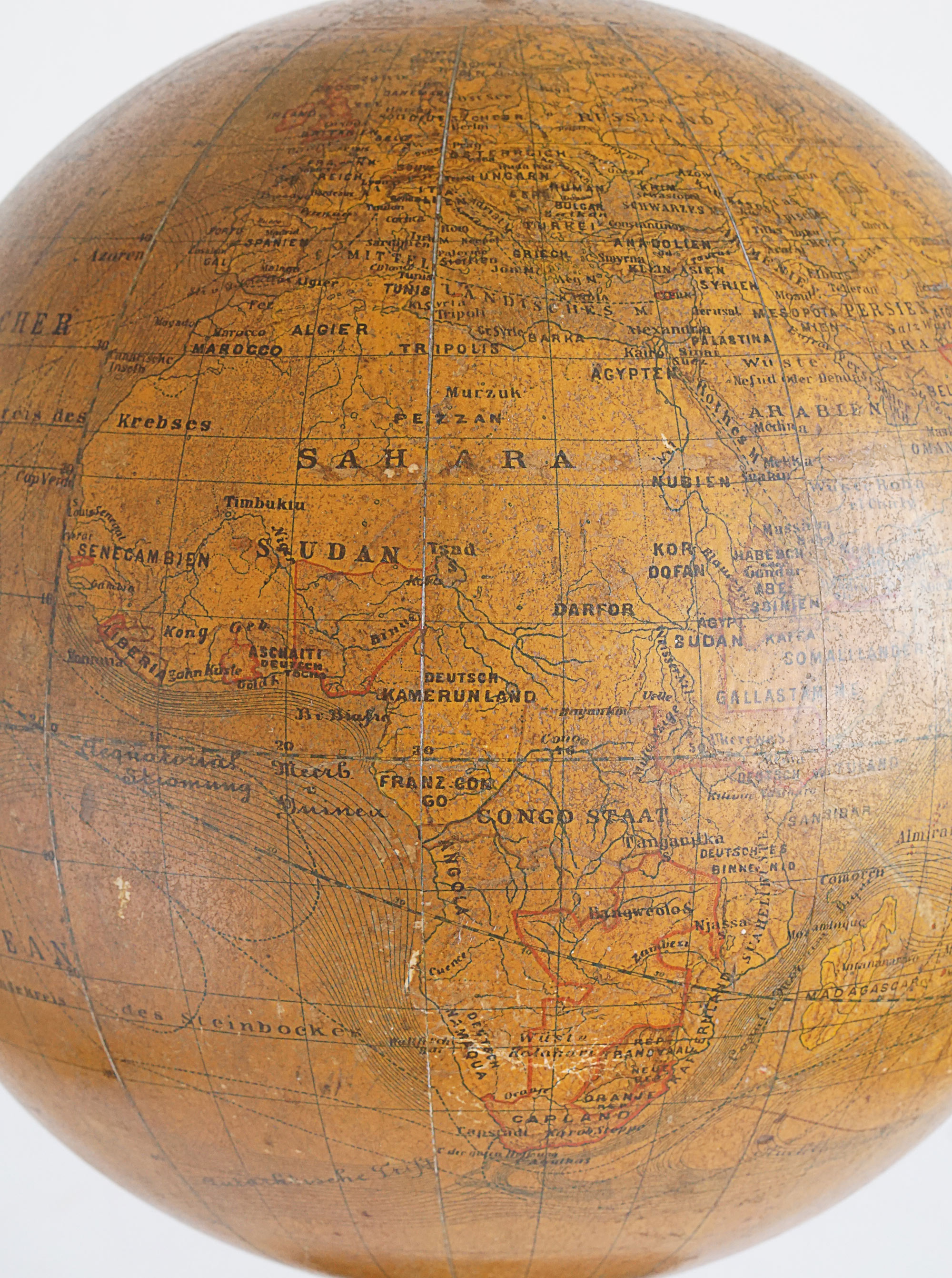 "19th Century German ""Earth Ball"" Globe by Felkl & Sohn"