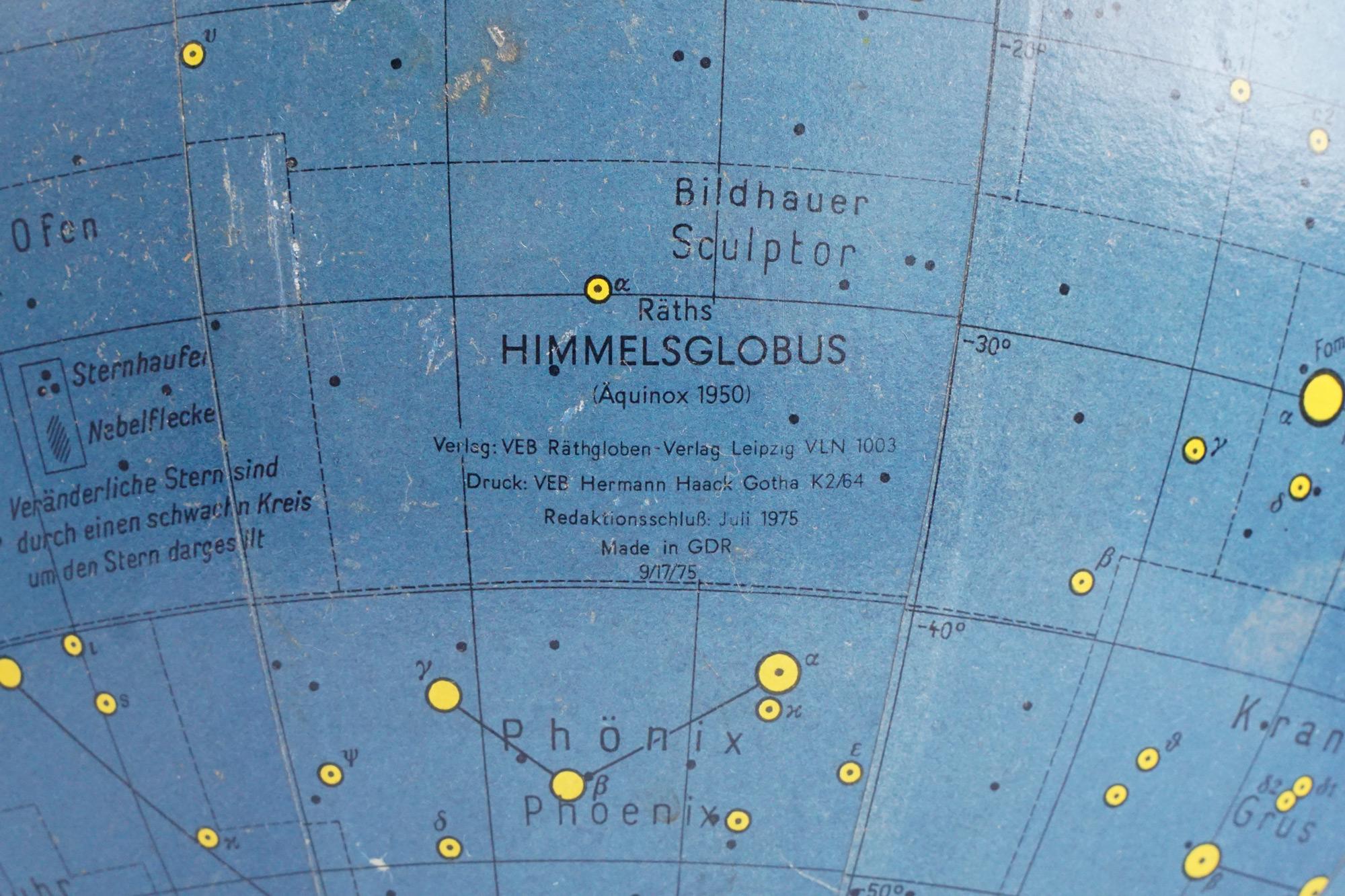 "Rare german celestial ""Himmelsglobus"" by Paul Rath"