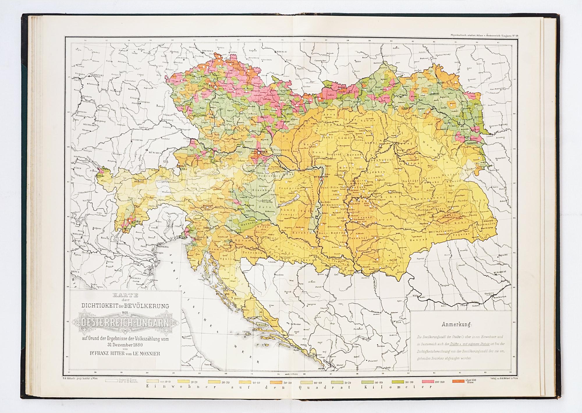 Physikalisch-Statisticher Hand-Atlas von Oesterreich-Ungarn