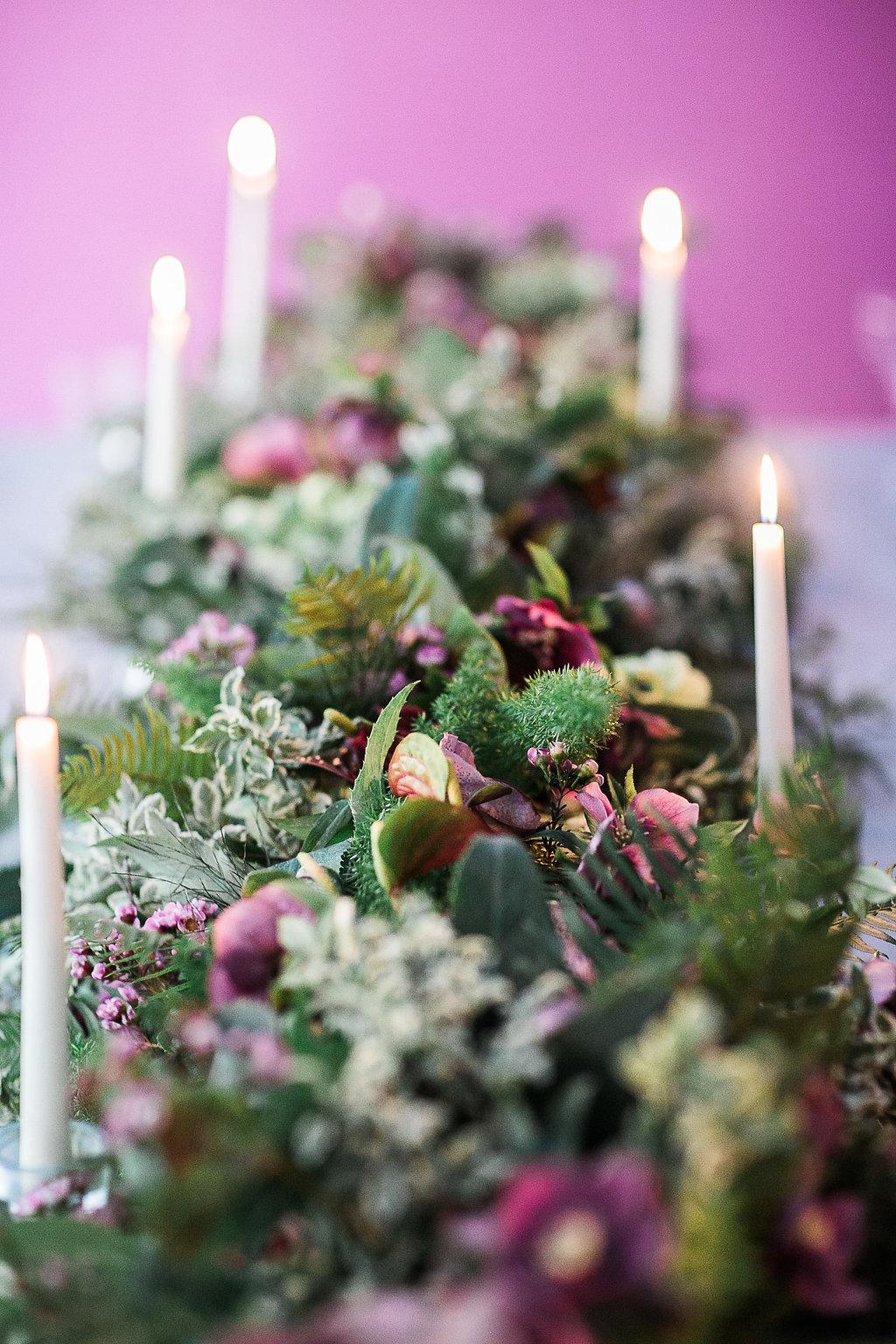 Wedding Table Flower Runner