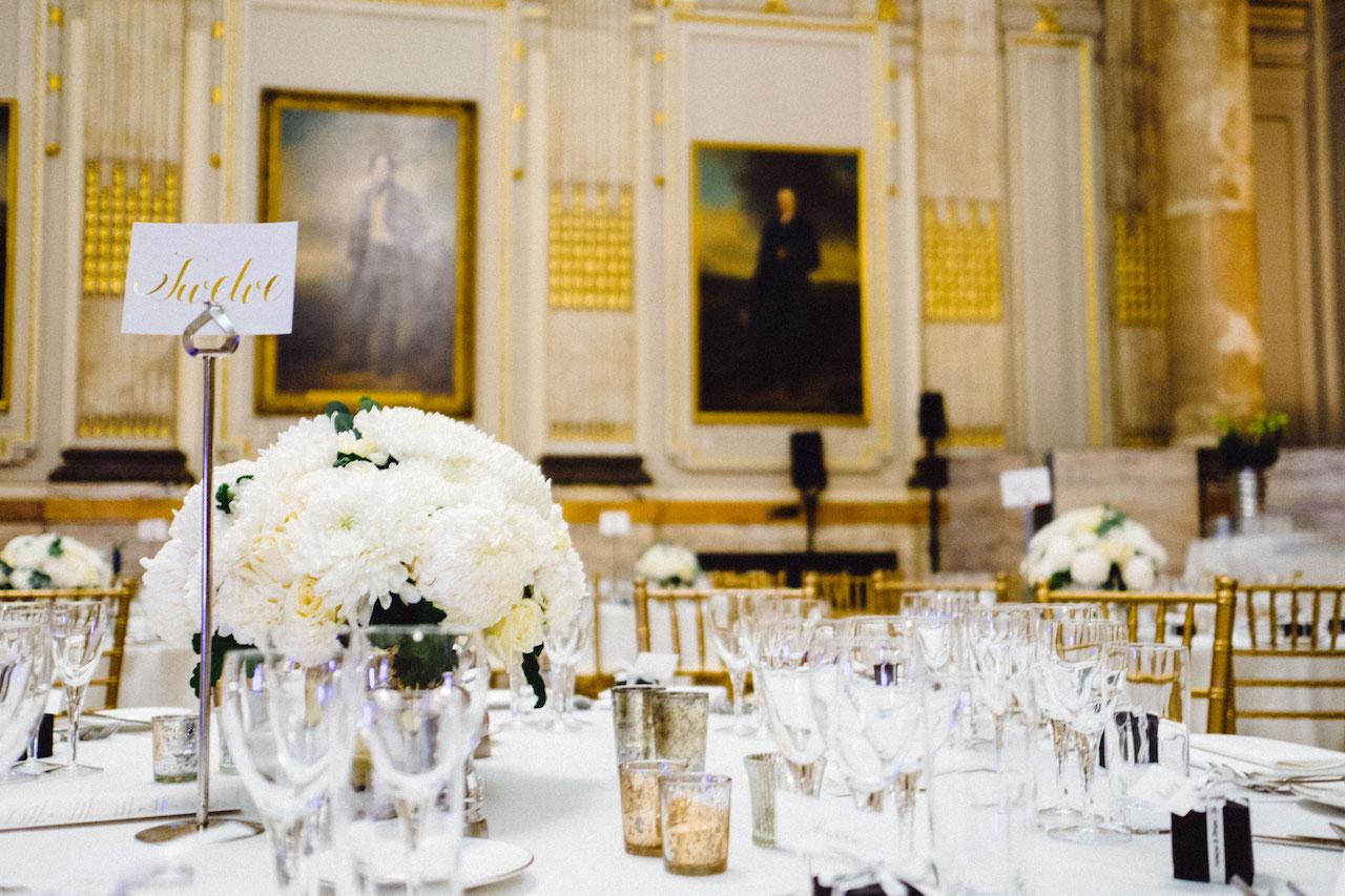 White Wedding Centrepiece