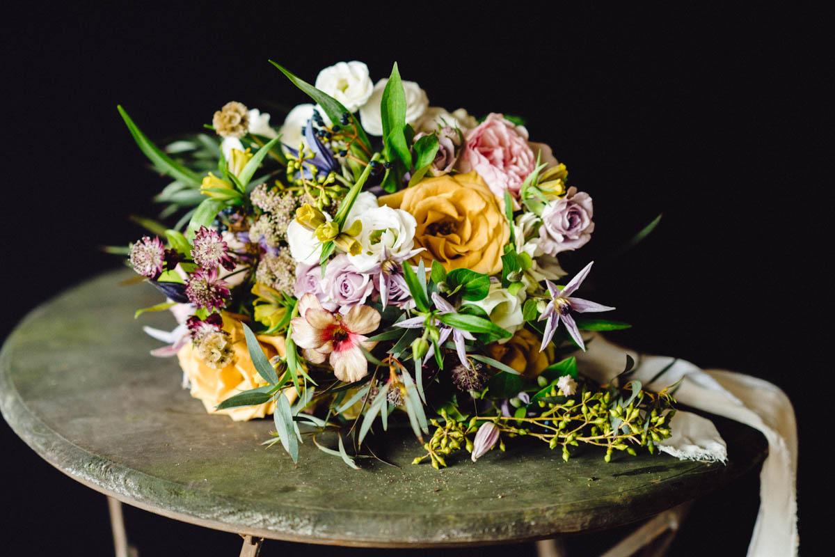 Garden Roses Wedding Bouquet