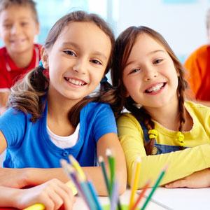 school kids smiling community minded