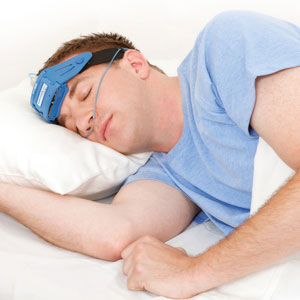 man having improved sleep