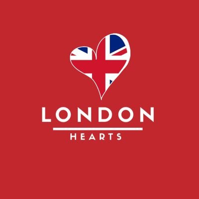 London Hearts Logo - A heart with british flag inside