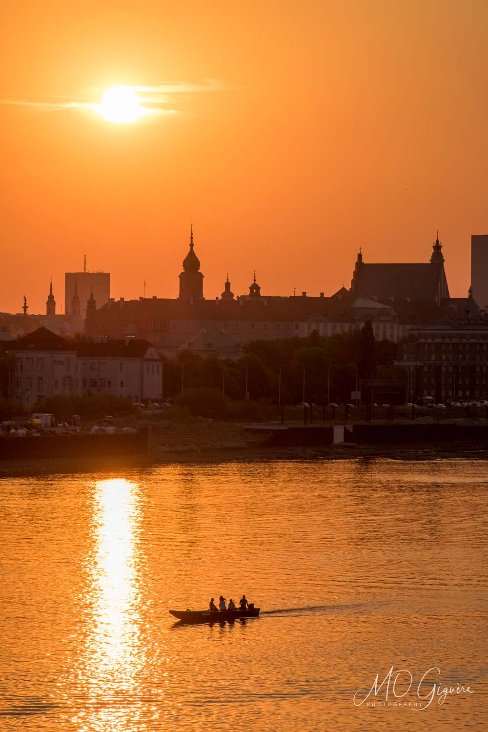 Sunset on Warsaw