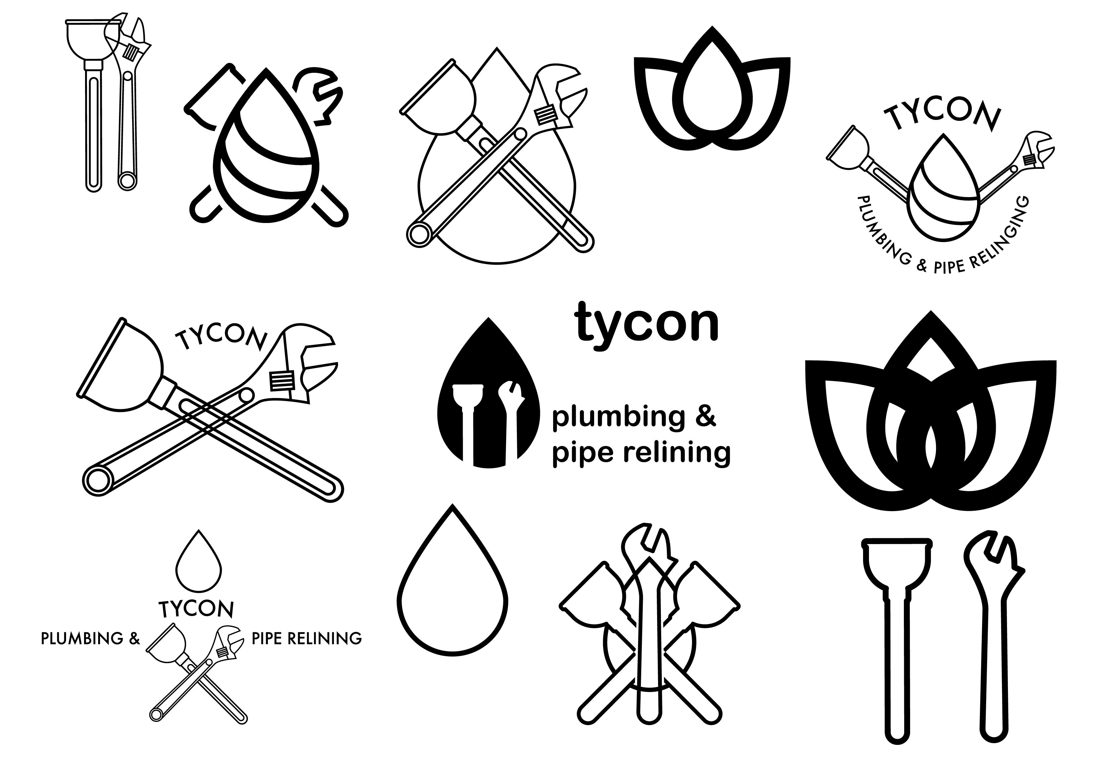 Logo design early concept tycon plumbing