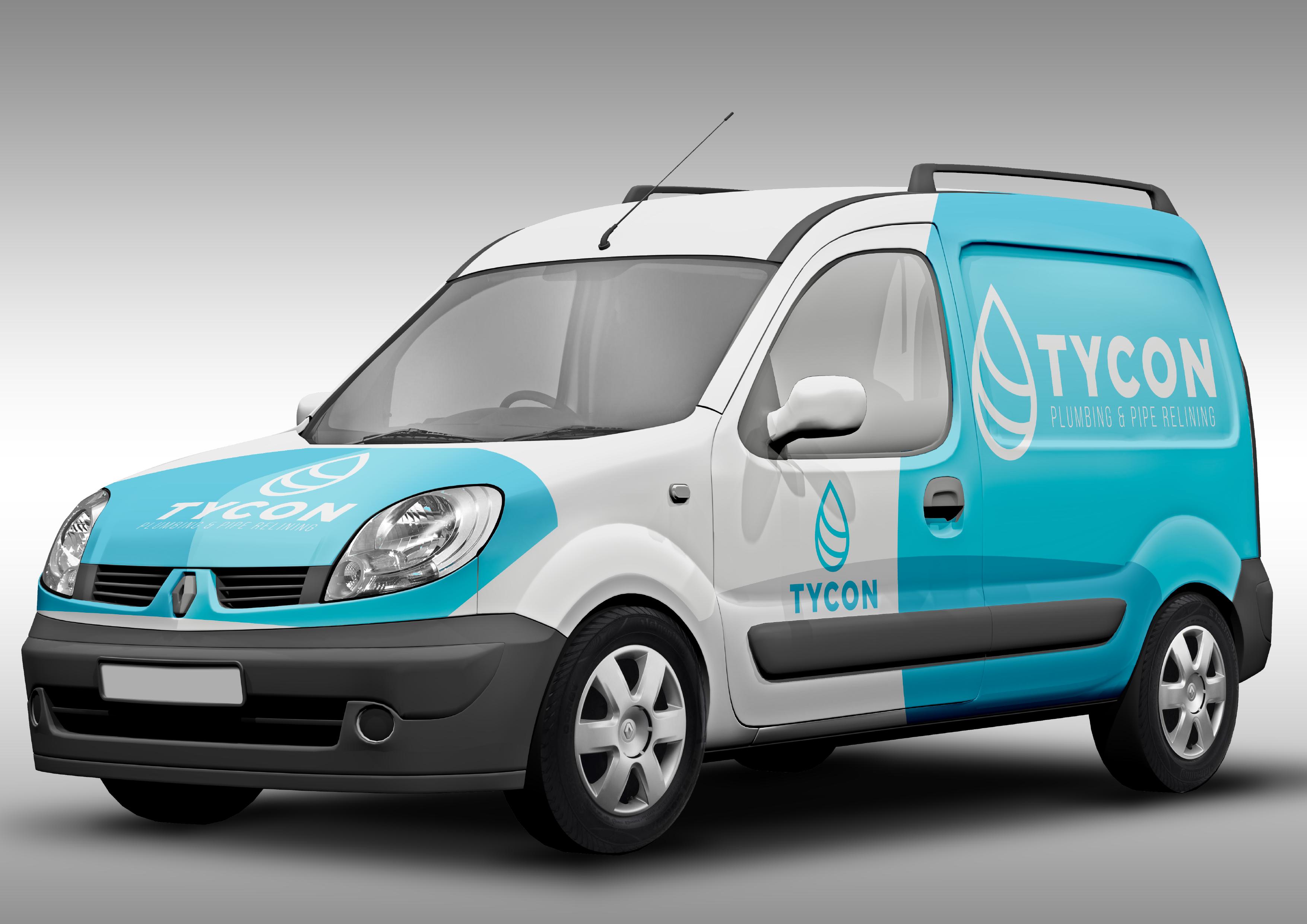Tycon plumbing logo van