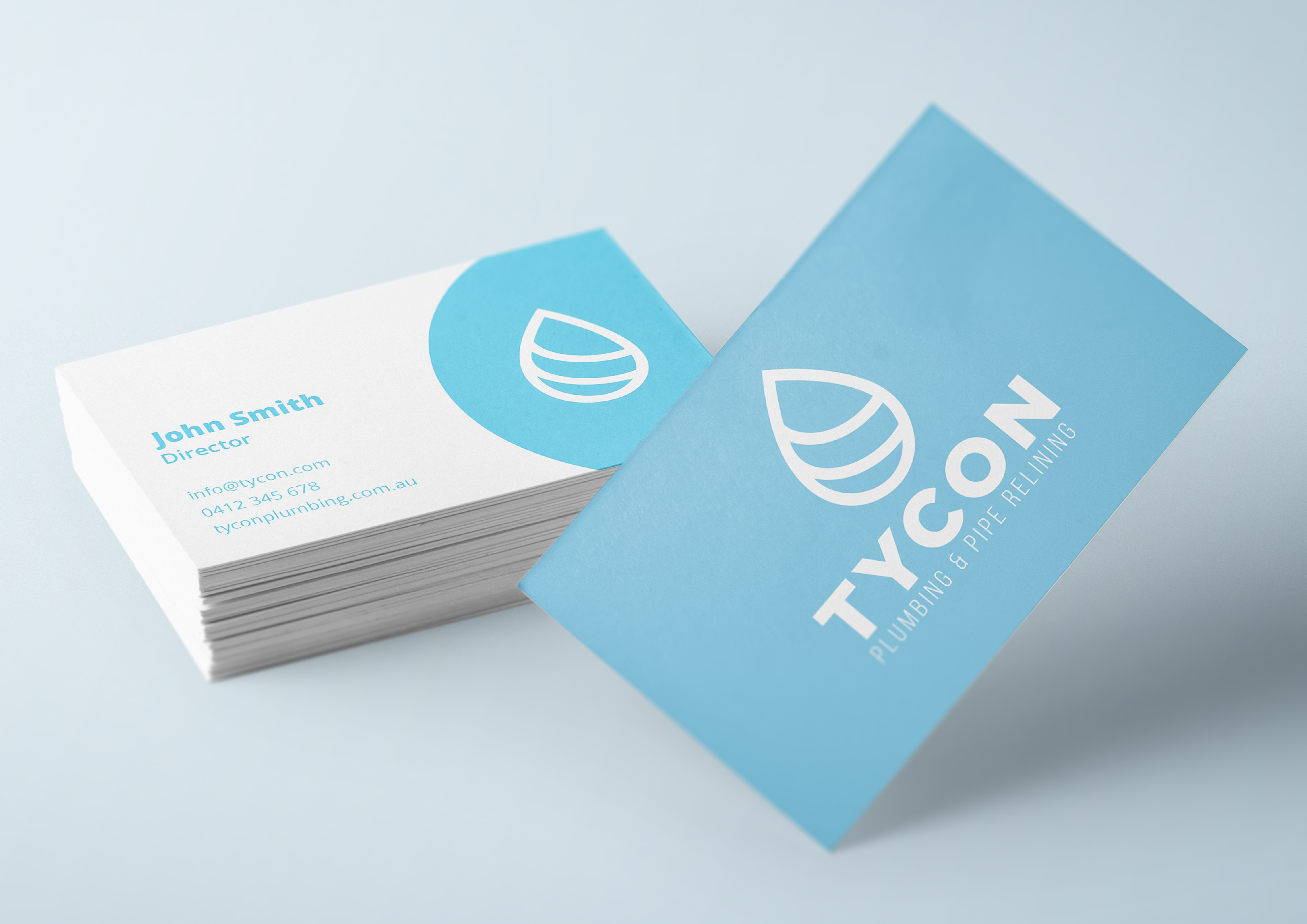 Tycon plumbing business cards