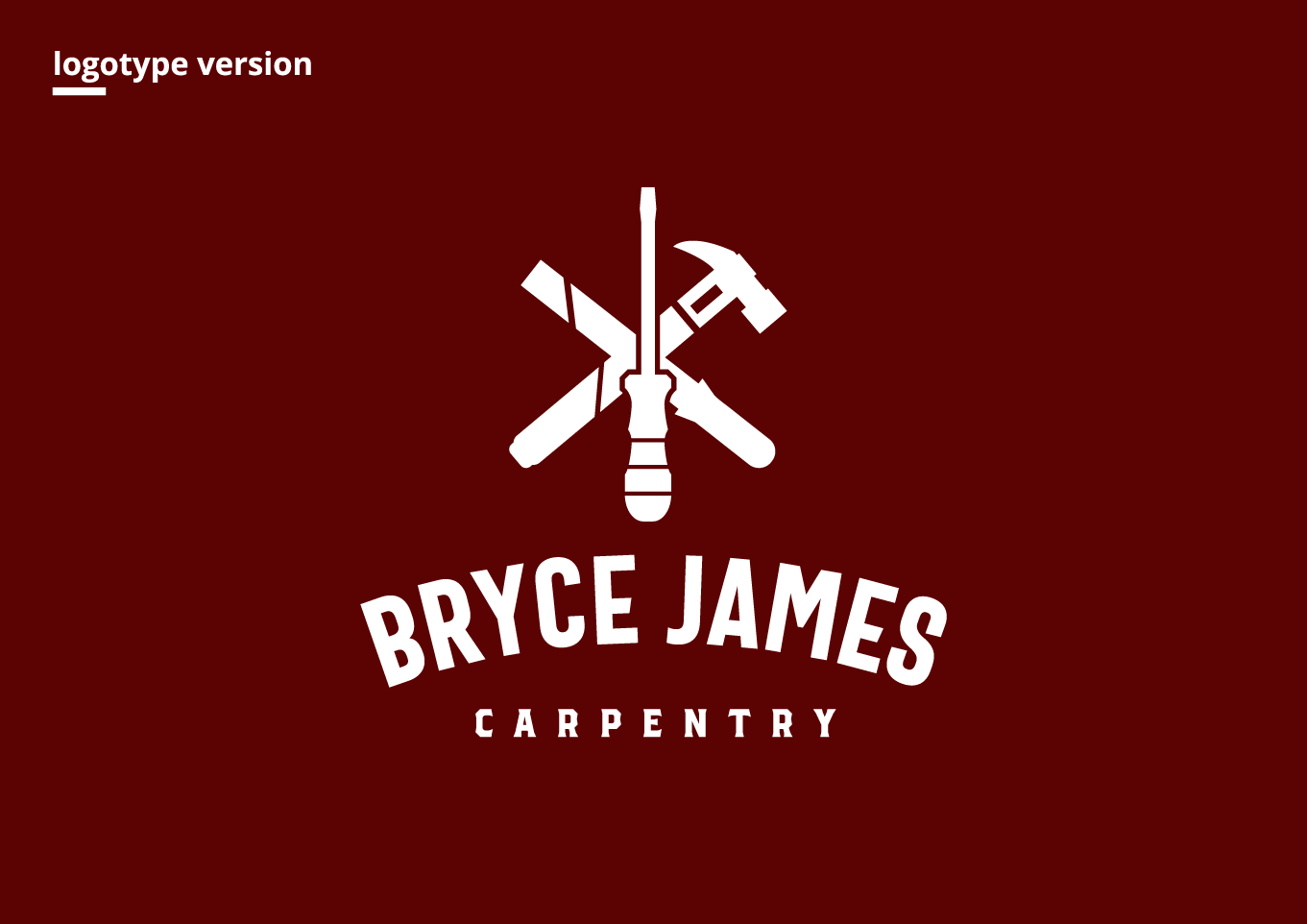 Bryce James Carpentry Logotype