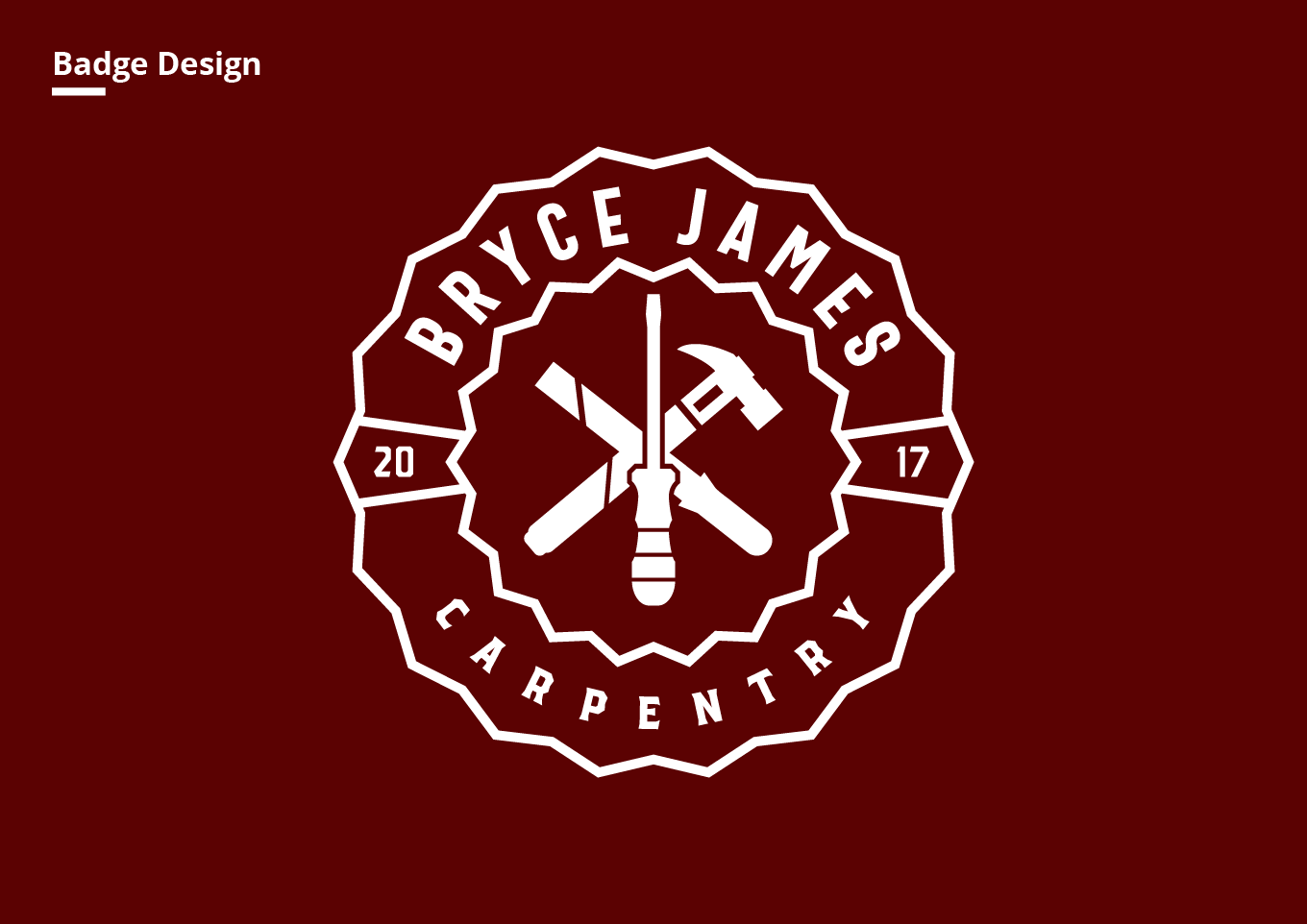 Bryce James Carpentry Badge design