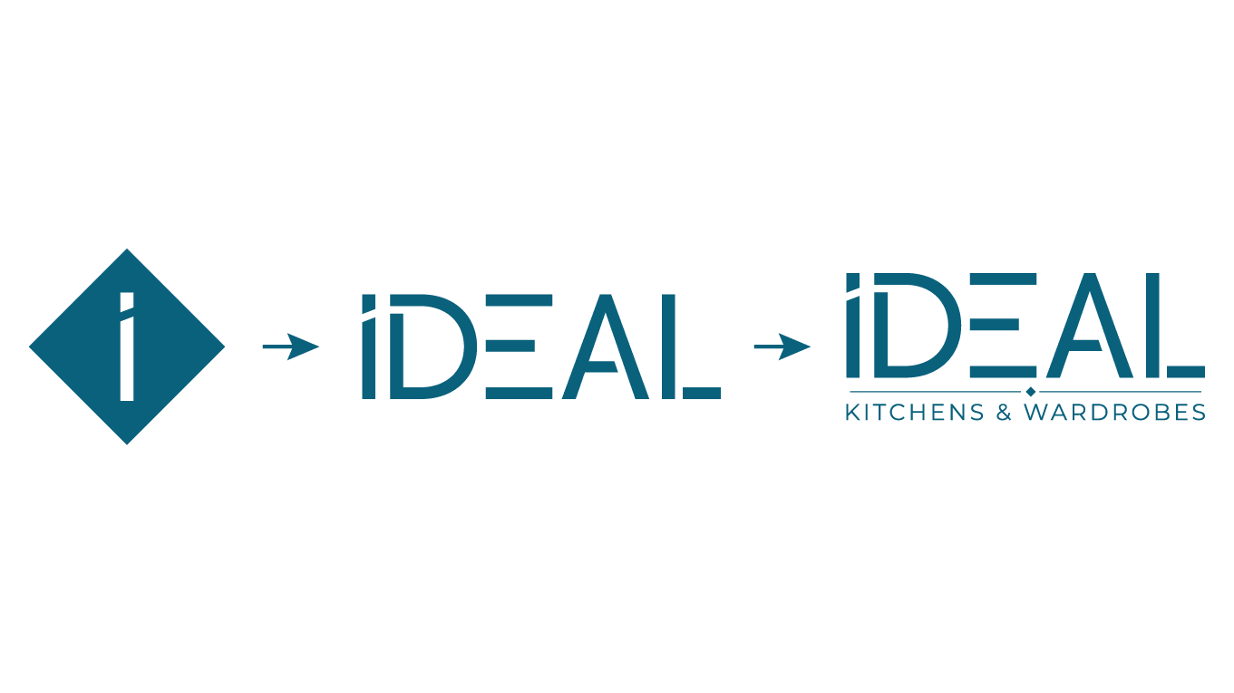 Responsive logo design ideal kitchens