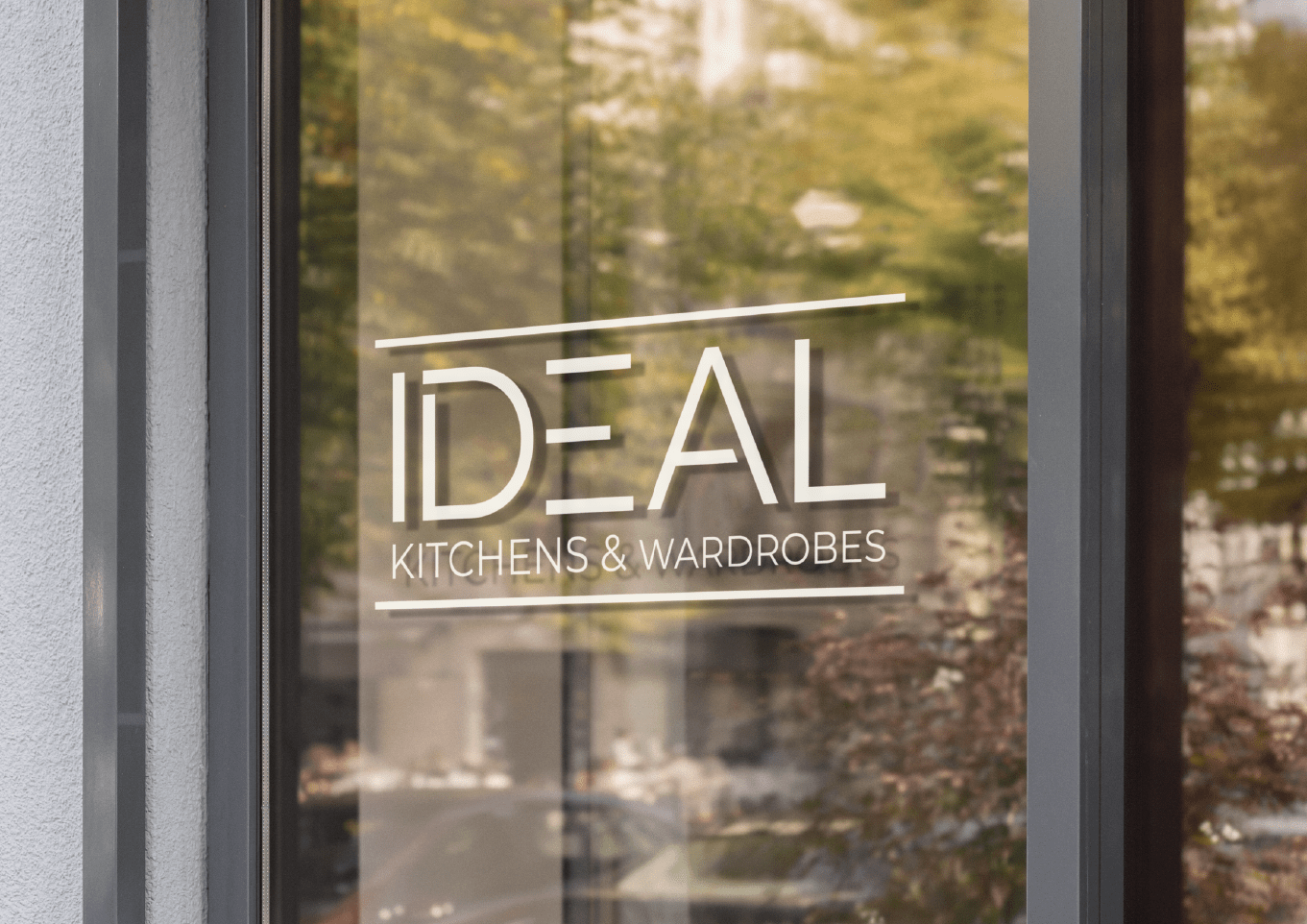 Ideal Kitchens Wall sign