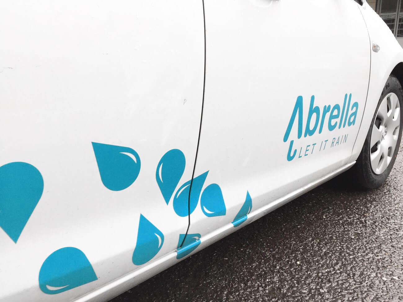 Abrella byparaplyer, paraplyer, bil