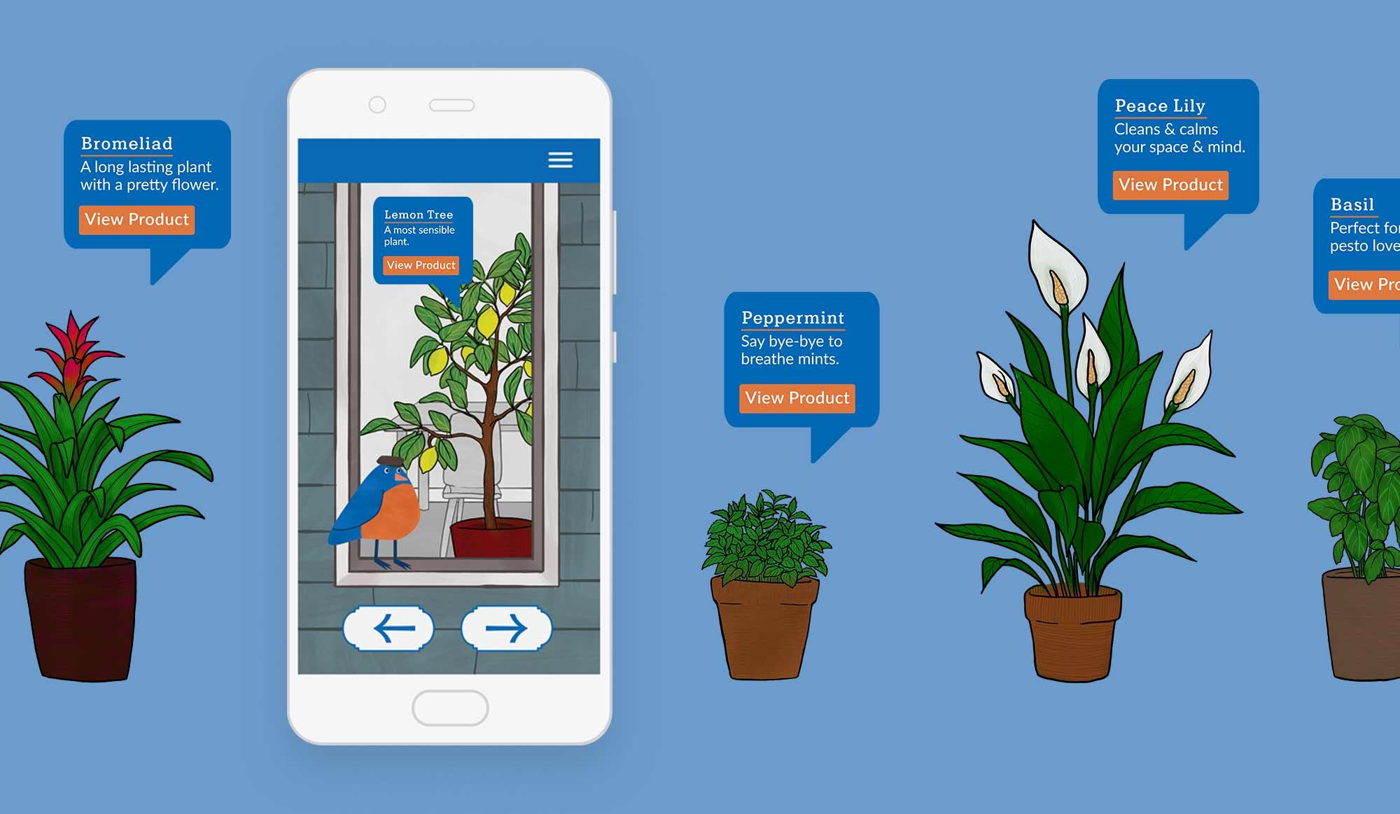 Big City Bluebird explore the plants page