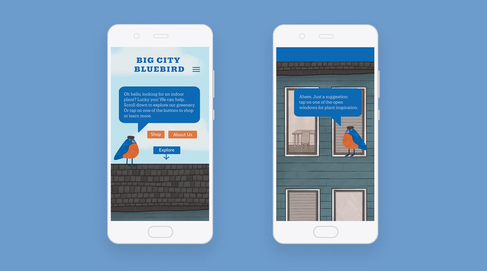 Big City Bluebird website home page