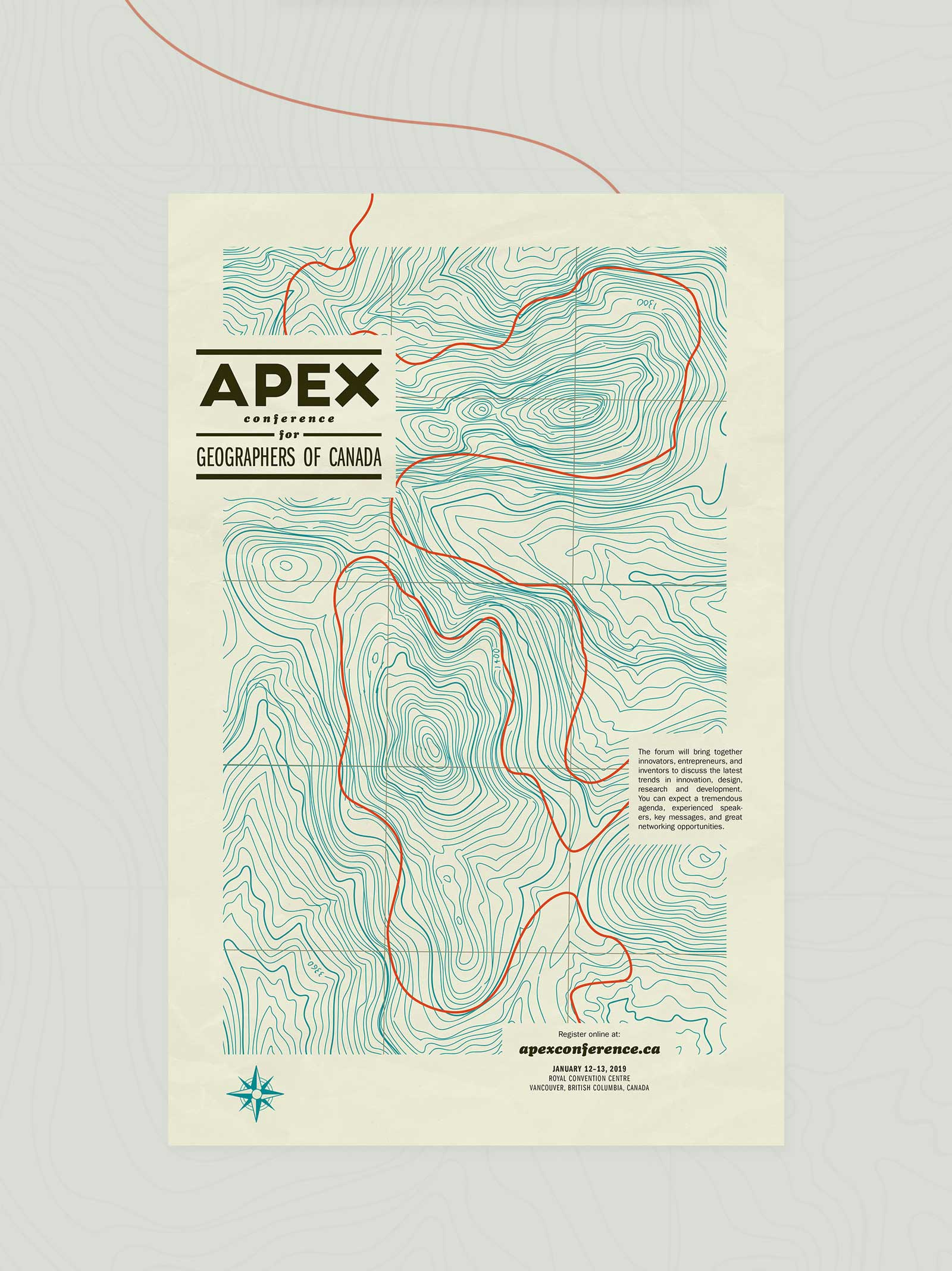 Apex Conference poster and brochure design