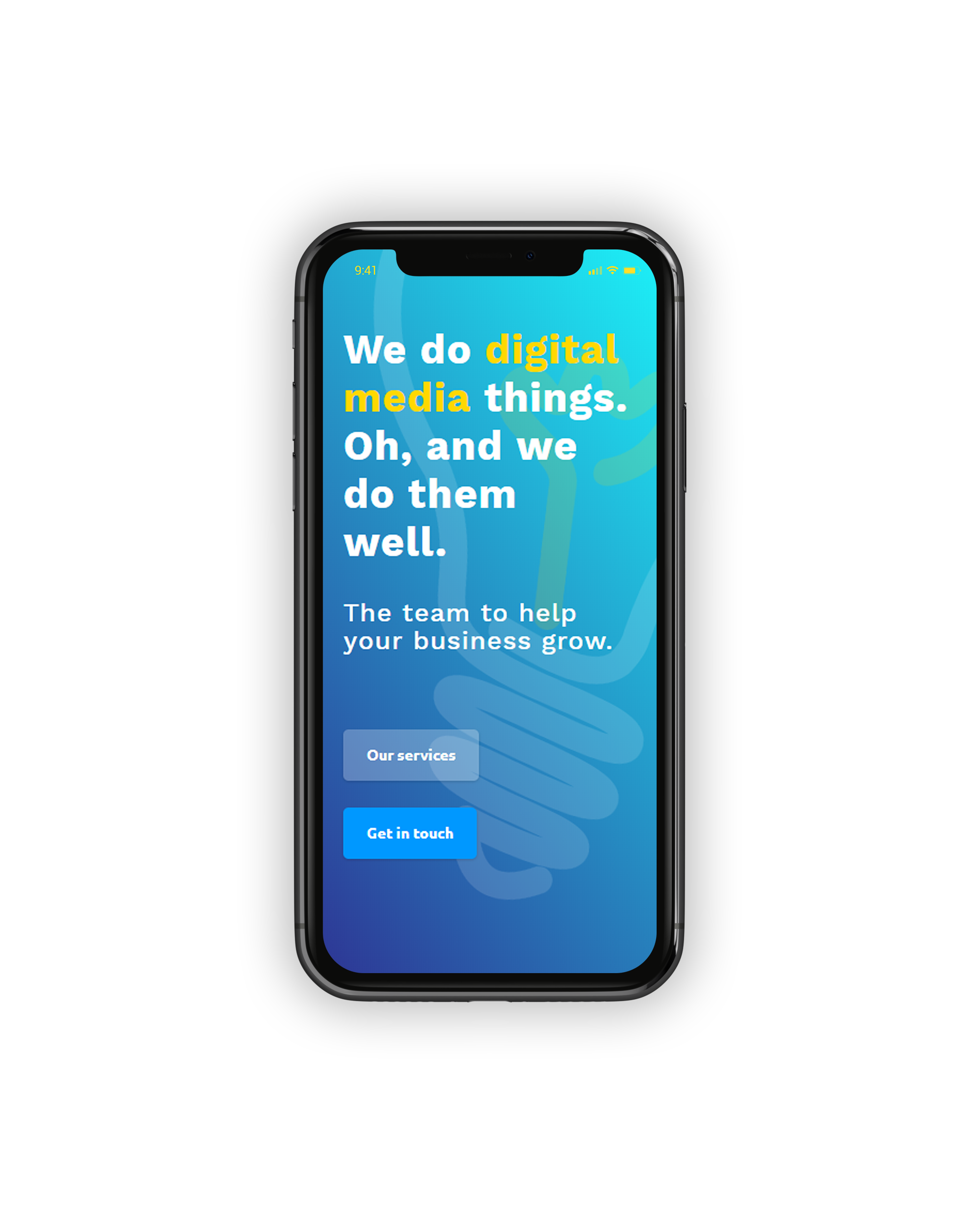 Mobile responsive website mock up