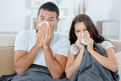 Couple Suffering With Chronic Sinusitis