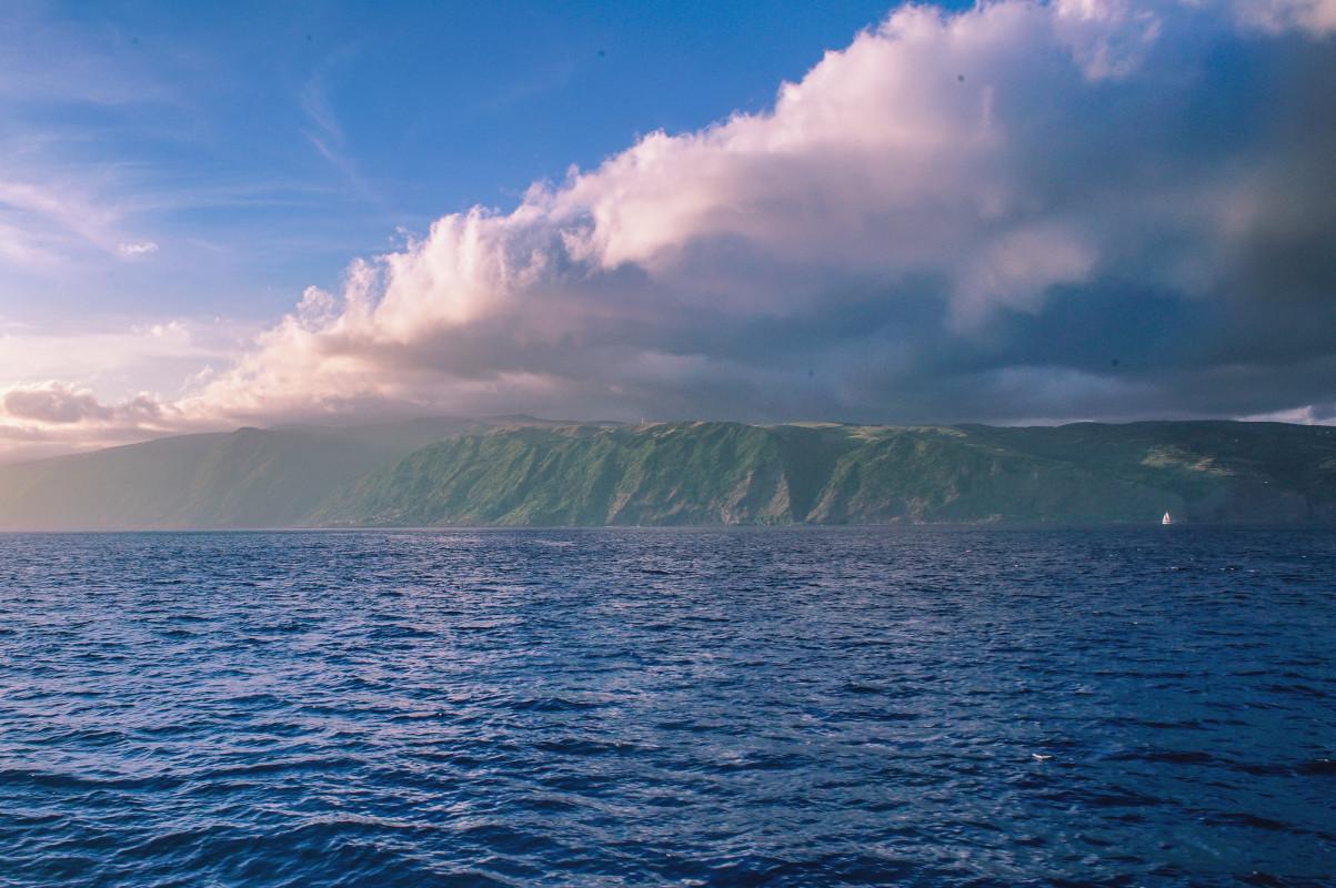 acantilados de las islas Azores