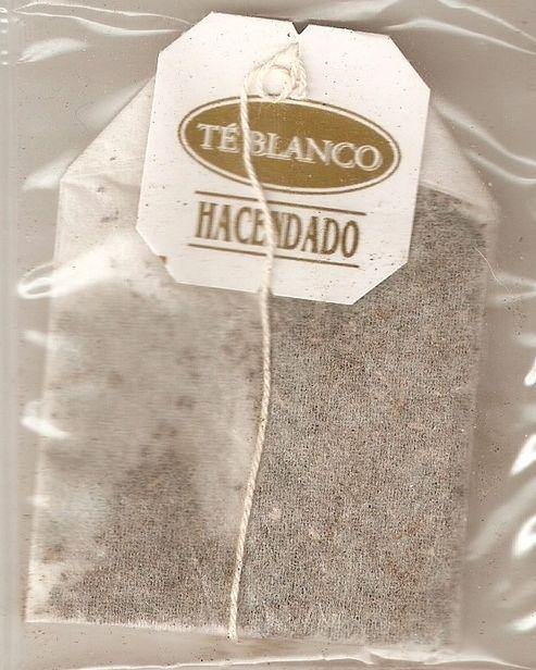 bolsa de té blanco hacendado