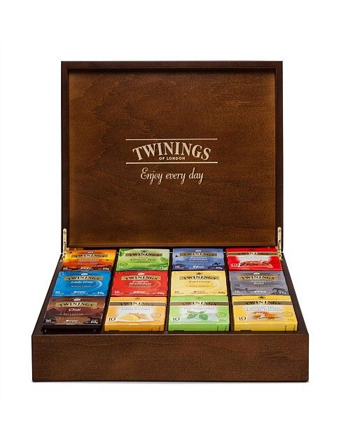 cofre de distintos tés un regalo para teteros