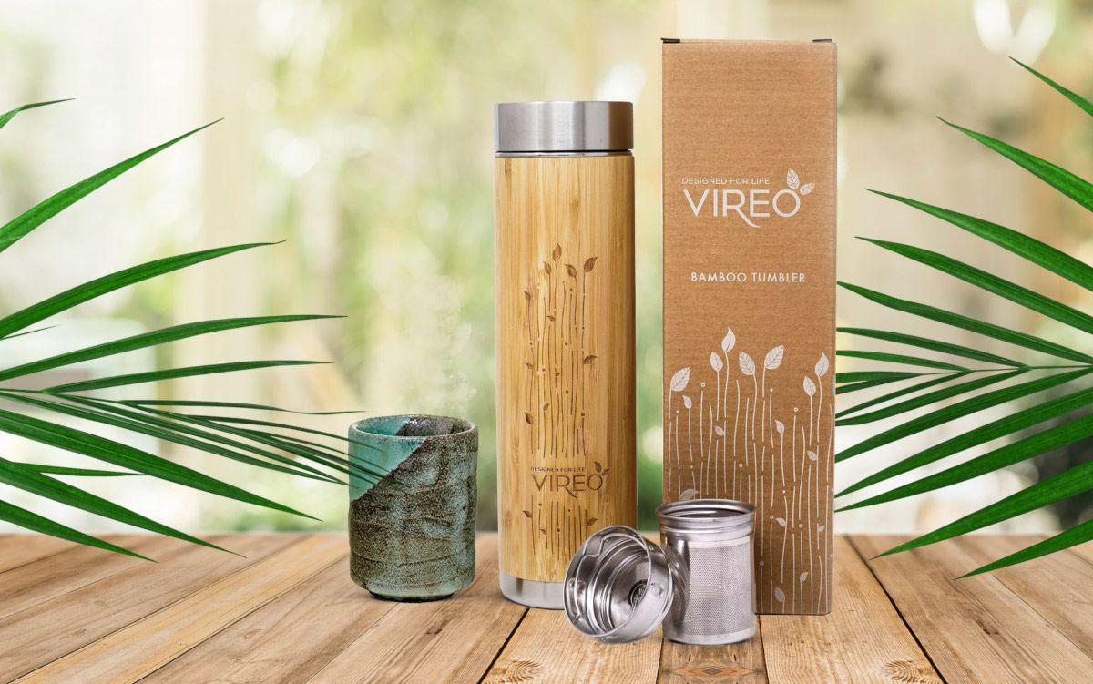 botella de bambú para té vireo