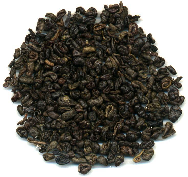 primer plano de té gunpowder