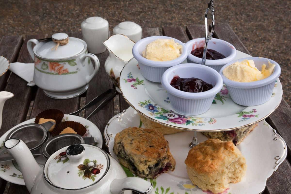 merienda para hora del té inglesa