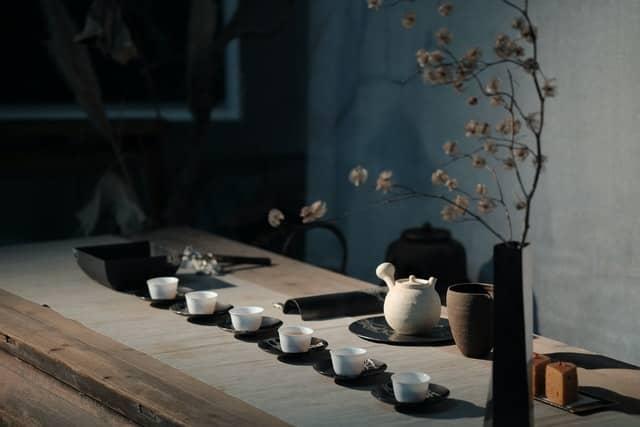 tacitas con té oriental