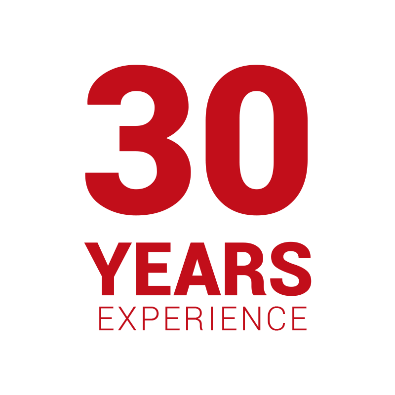 Red 30 Years Experience Icon