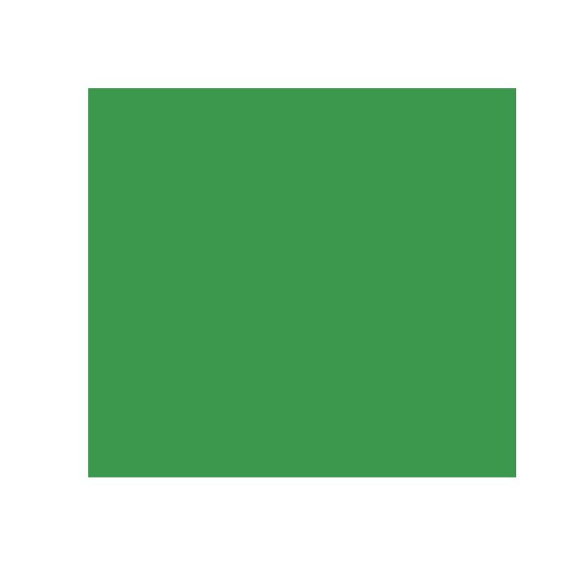 Green tick inside green circle