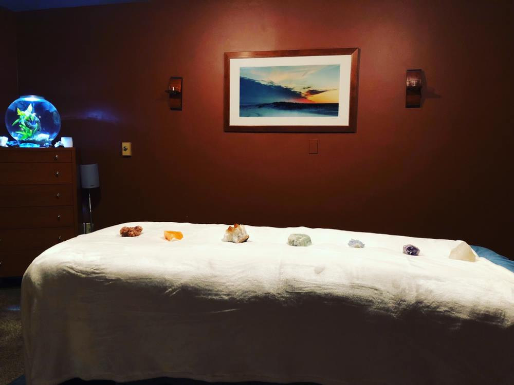 sacred stones on table at Pittsburgh Center for Complementary Health and Healing