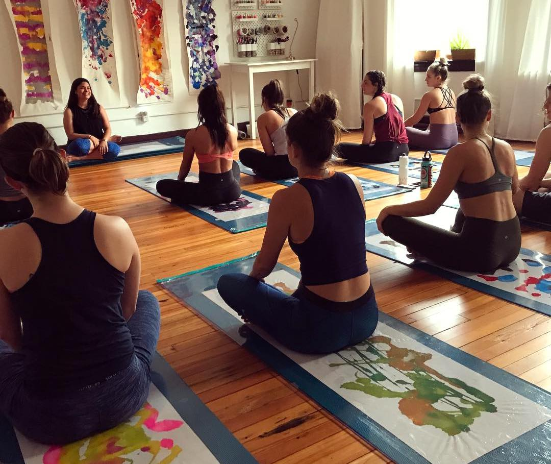 Paint Party at Yoga Motif Pittsburgh