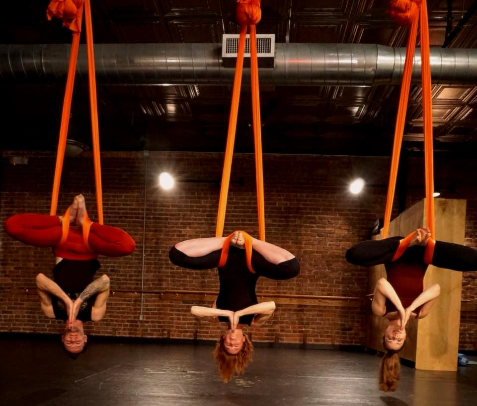 aerial yoga moves at Verve 360 Pittsburgh