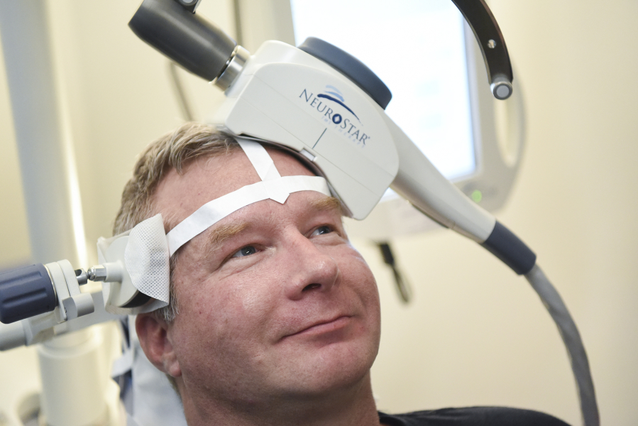 Man tries TMS using NeuroStar