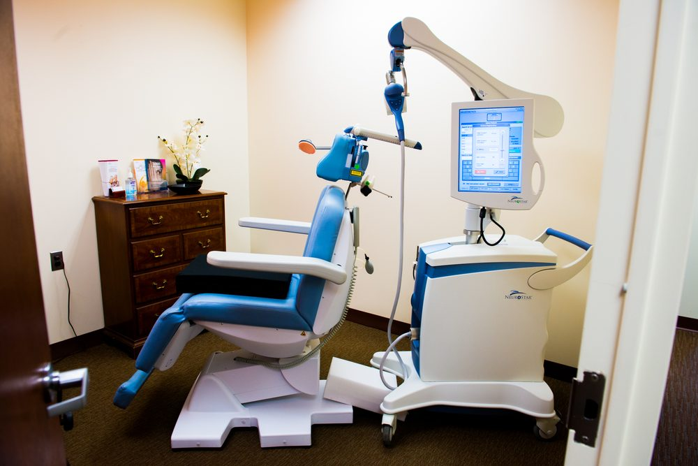 Technicians undergo training in order to learn how to use the Neurostar TMS machine