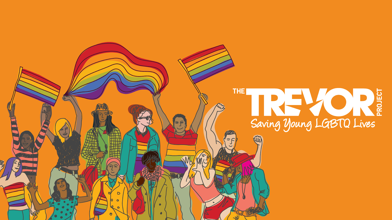Illustration for the Trevor Project