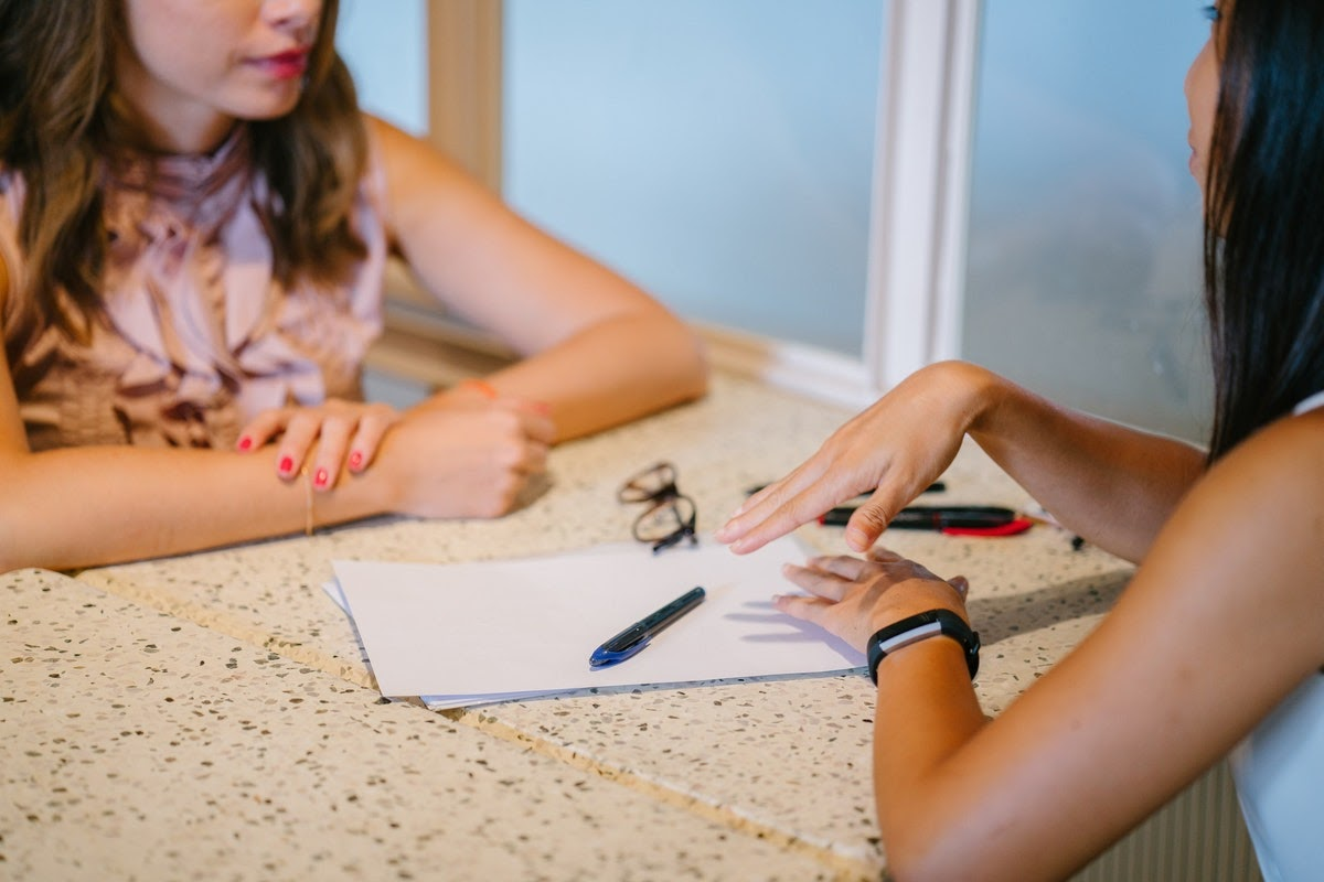 Woman seeking help for Adjustment Disorder