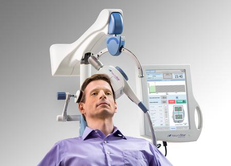 man getting tms procedure