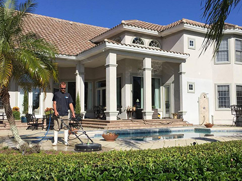 patio cleaning project in jacksonville