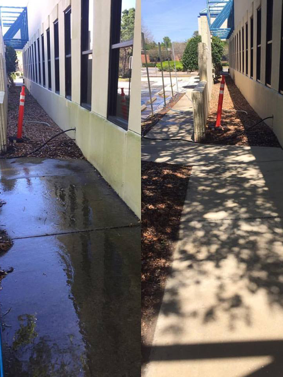before and after commercial cleaning project