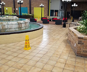 Expert tile cleaning in a commercial property