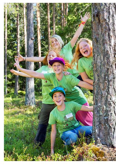 Skogskollo for unga tjejer